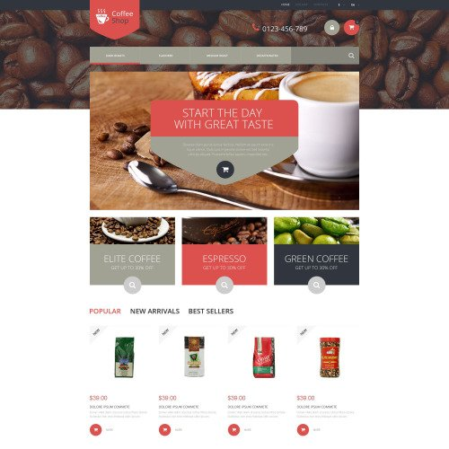 Coffee Shop - PrestaShop Template based on Bootstrap