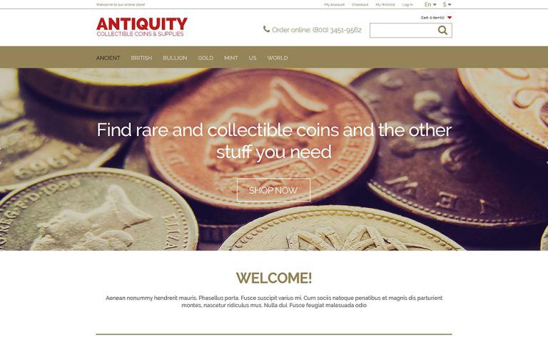 Collectible Coins Magento Theme