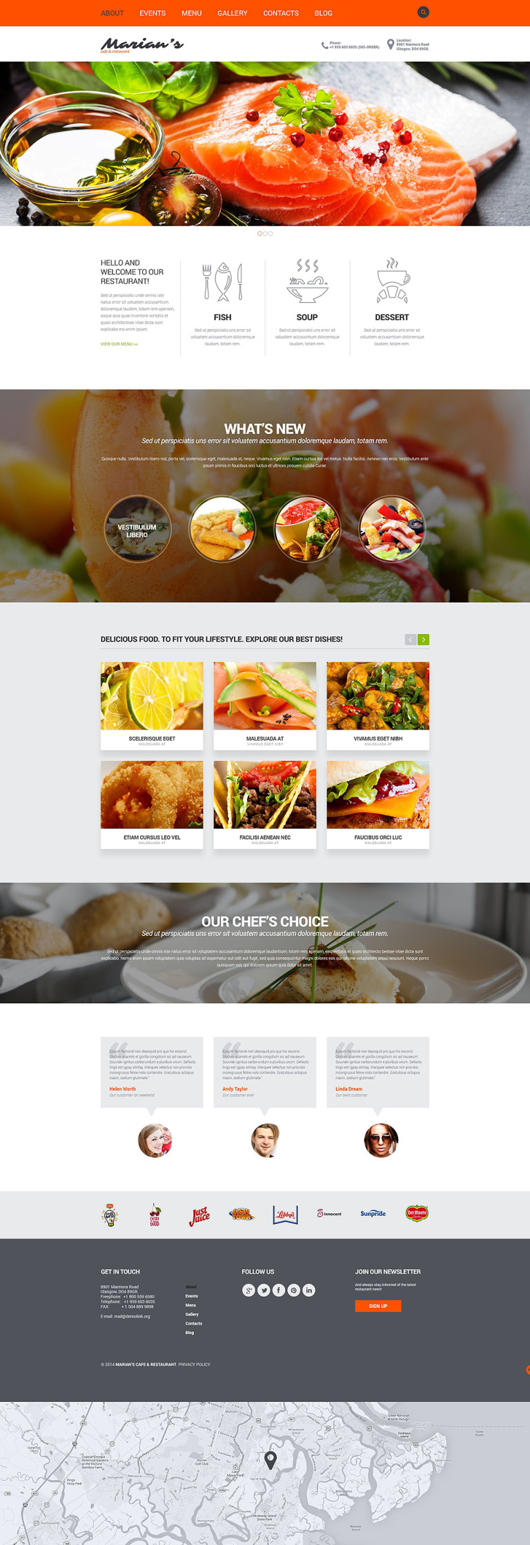 Cozy Restaurant Joomla Template New Screenshots BIG