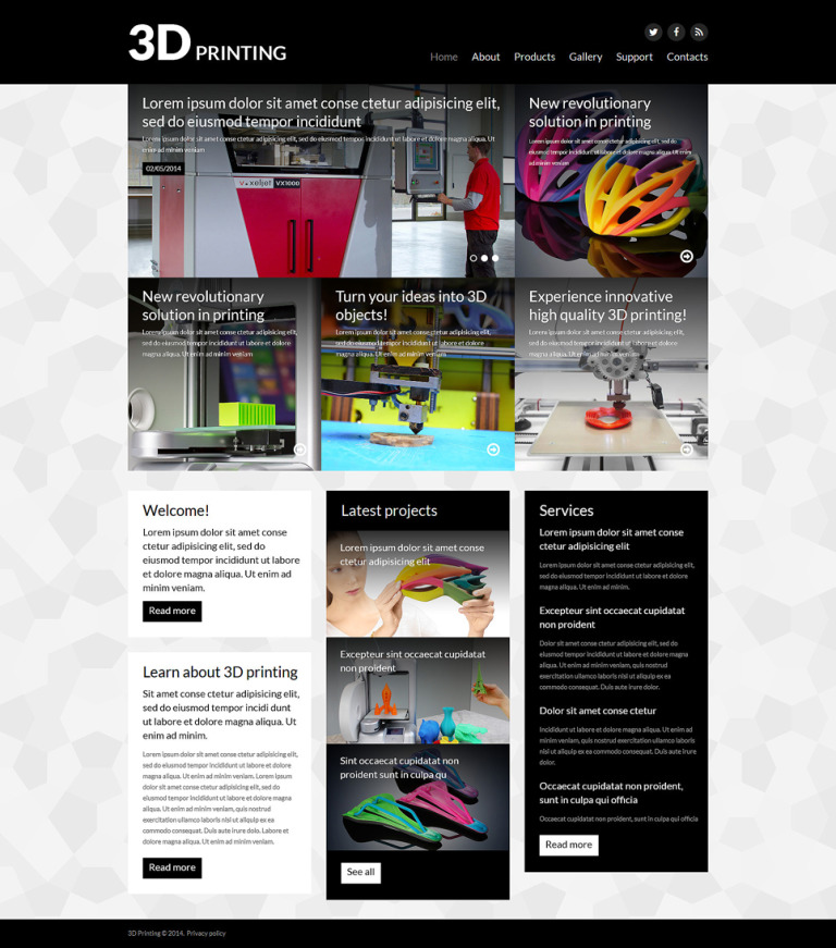 3D Evolution Joomla Template New Screenshots BIG