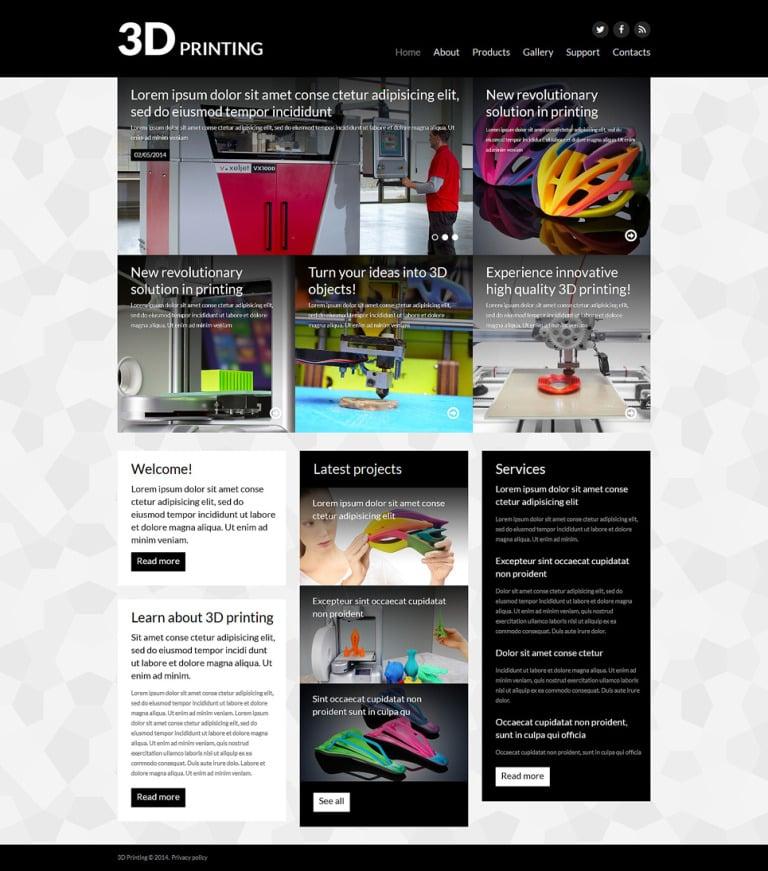 3D Evolution Joomla Template New Screenshots BIG