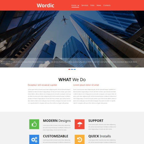 Wordic - MotoCMS 3 Template based on Bootstrap