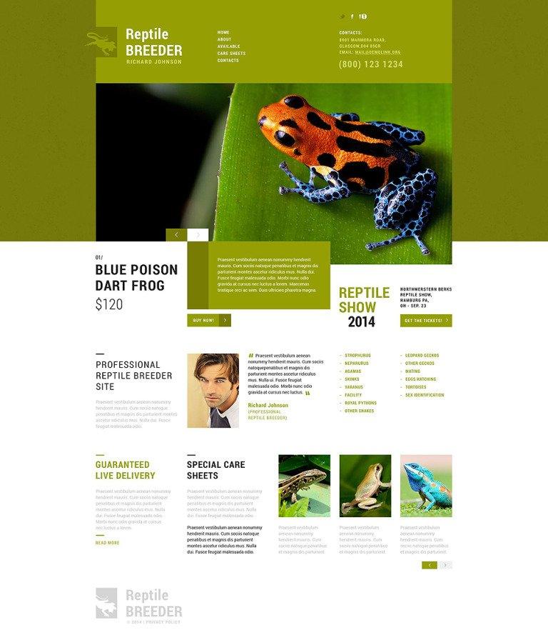 Exotic Pets Responsive Website Template New Screenshots BIG