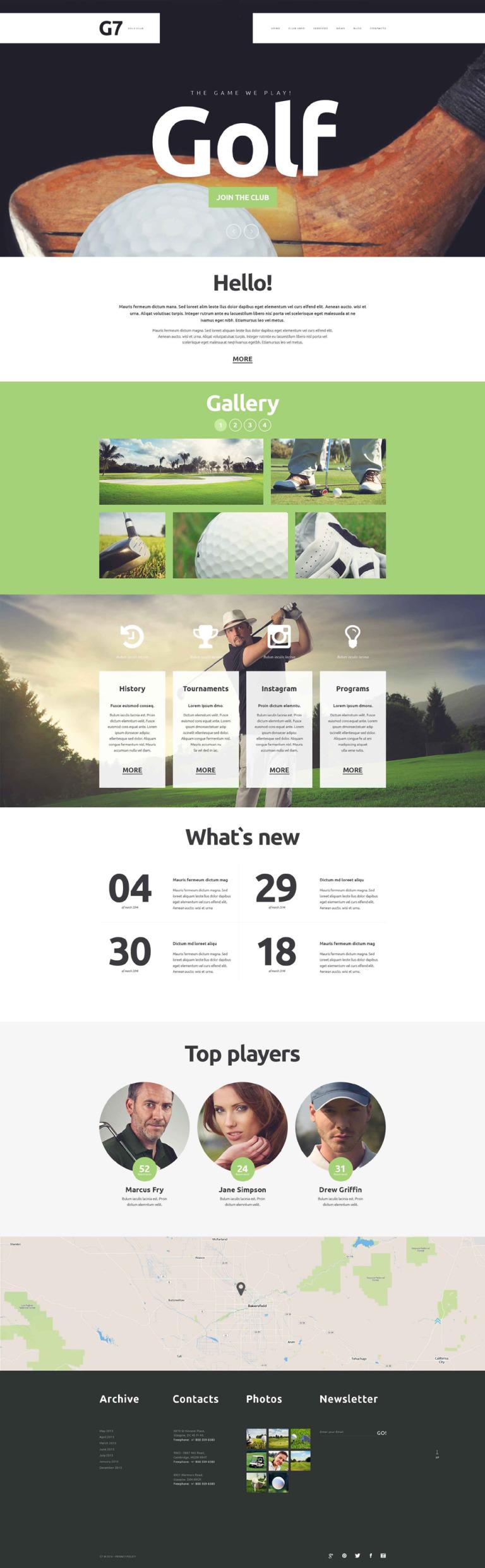 Golf Club Website Template New Screenshots BIG