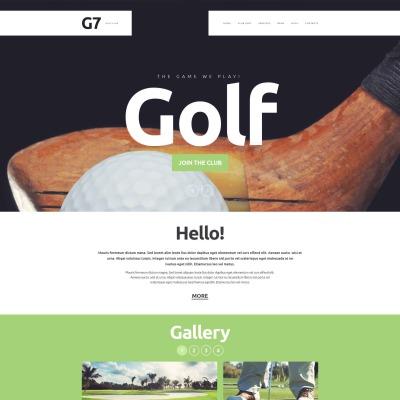 golf website templates templatemonster. Black Bedroom Furniture Sets. Home Design Ideas