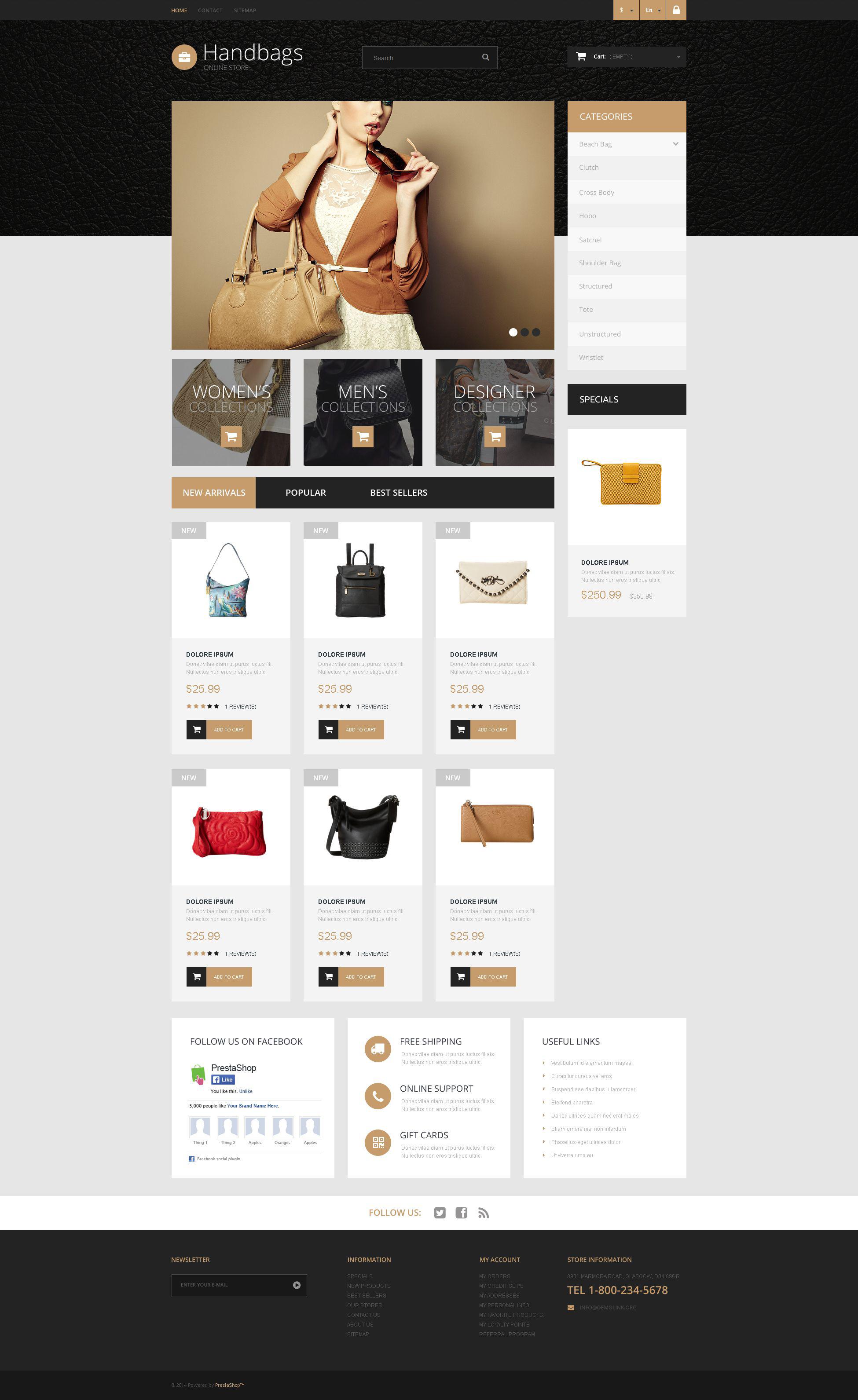 Handbag Boutique PrestaShop Theme