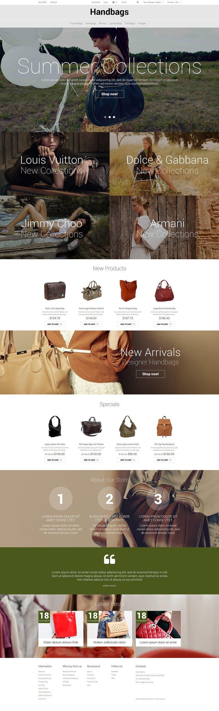 Handbag Responsive Magento Theme New Screenshots BIG