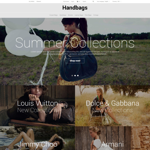 Handbags - Magento Template based on Bootstrap