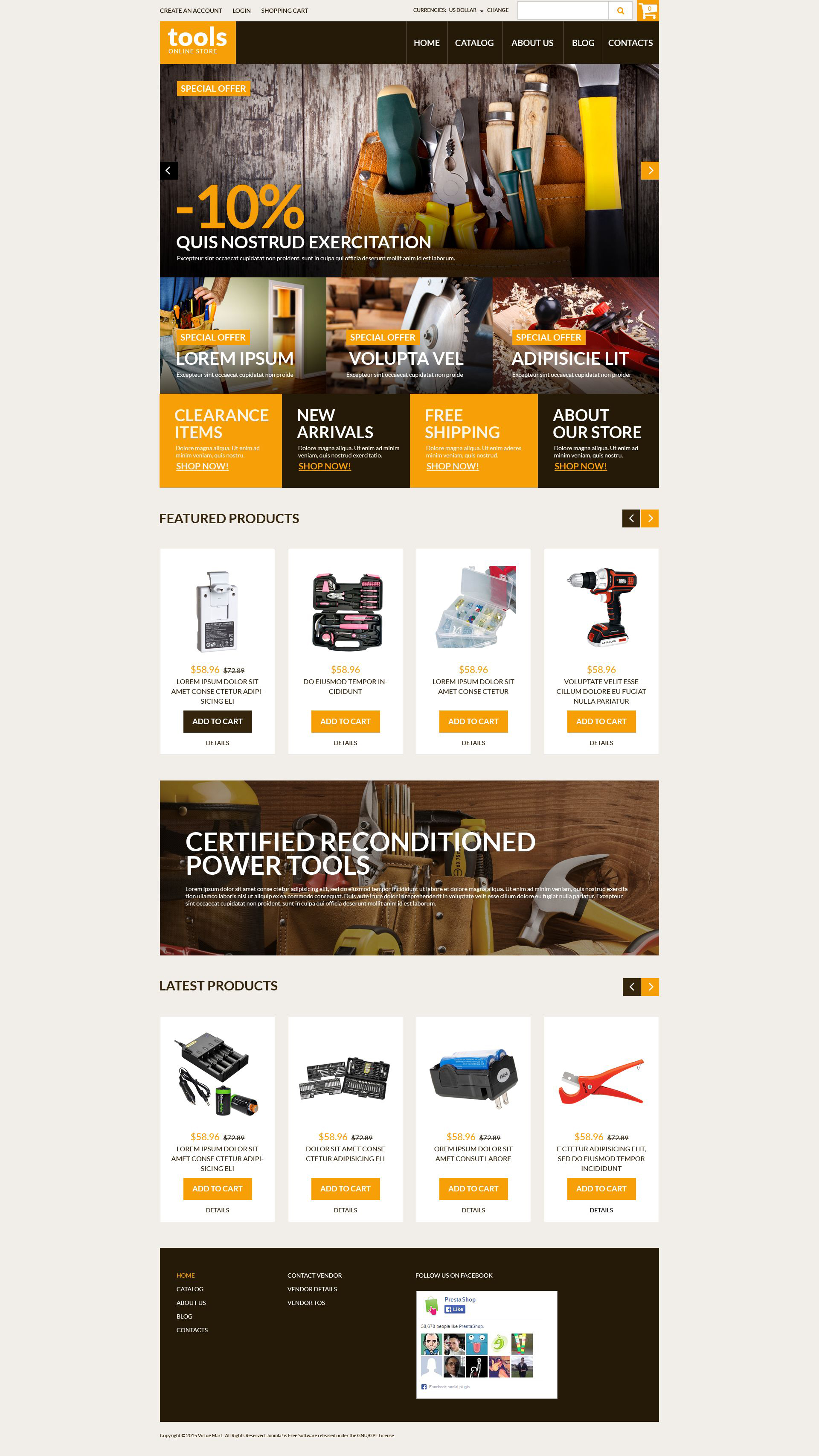 """Handyman's Tools"" thème VirtueMart  #52384"