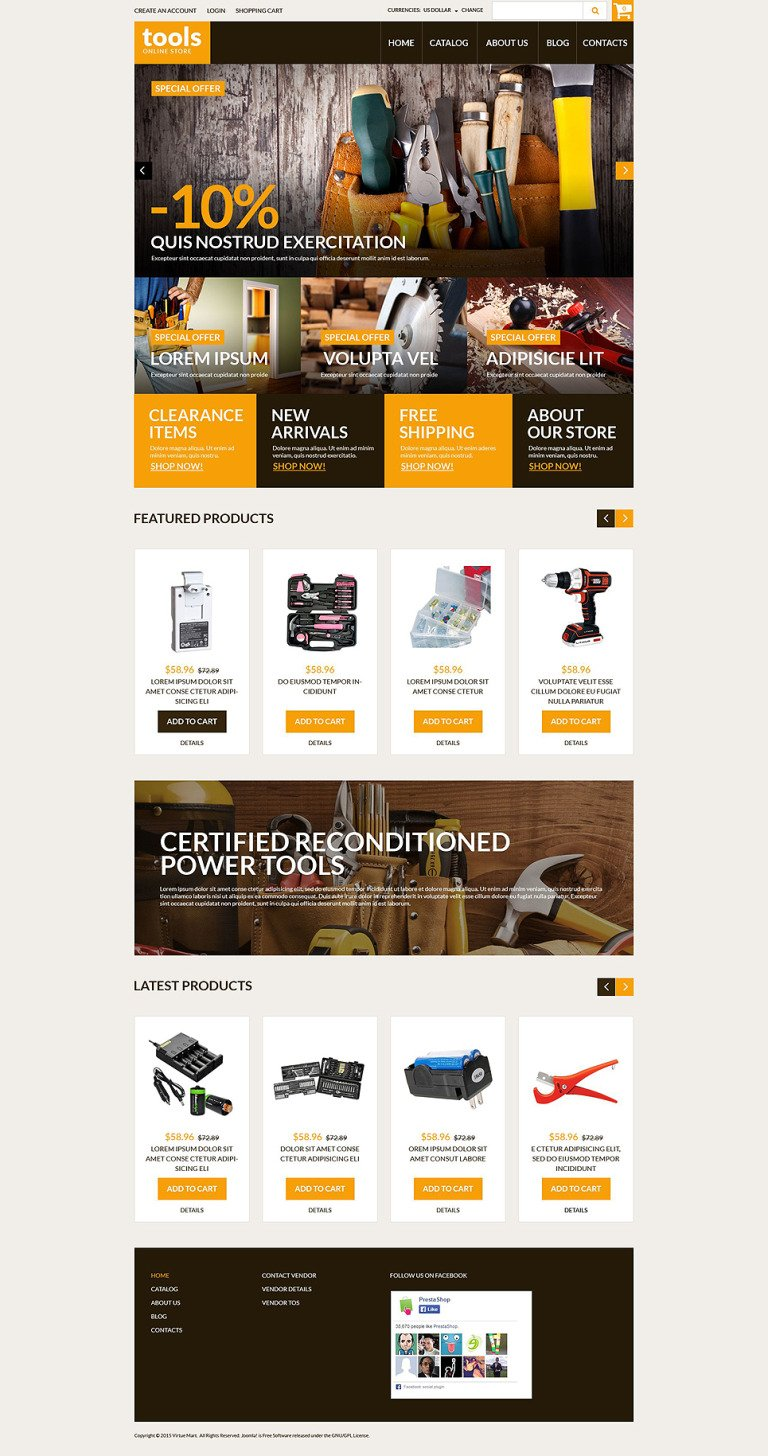 Handyman's Tools VirtueMart Template New Screenshots BIG