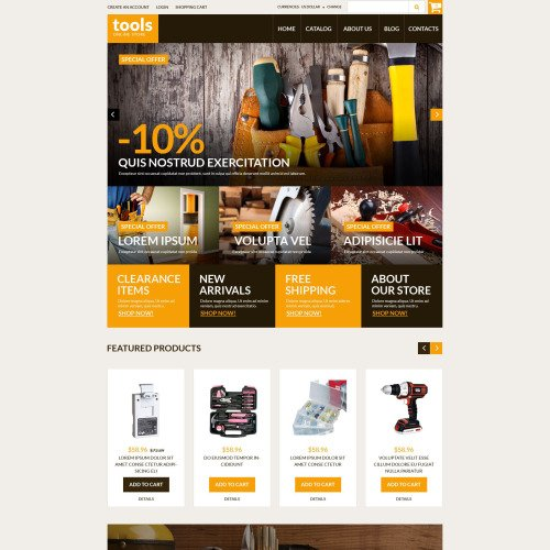 Tools Online Store - VirtueMart Template based on Bootstrap