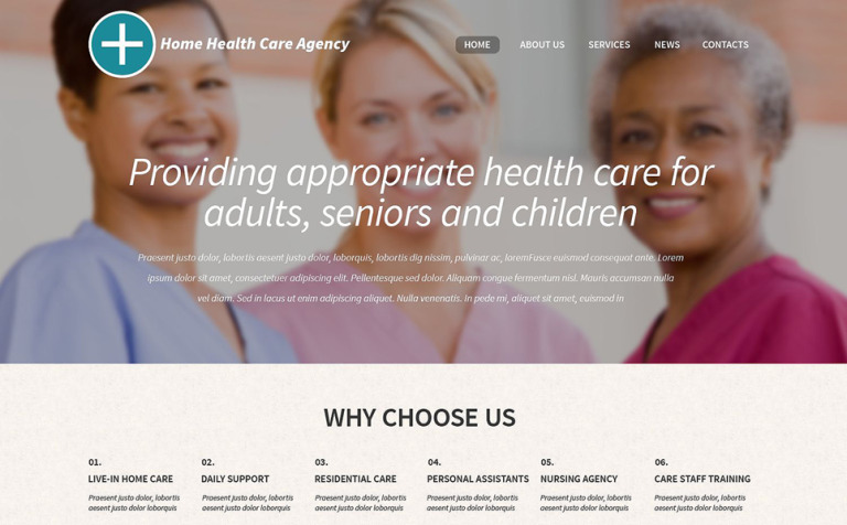 Healthcare Professionals WordPress Theme