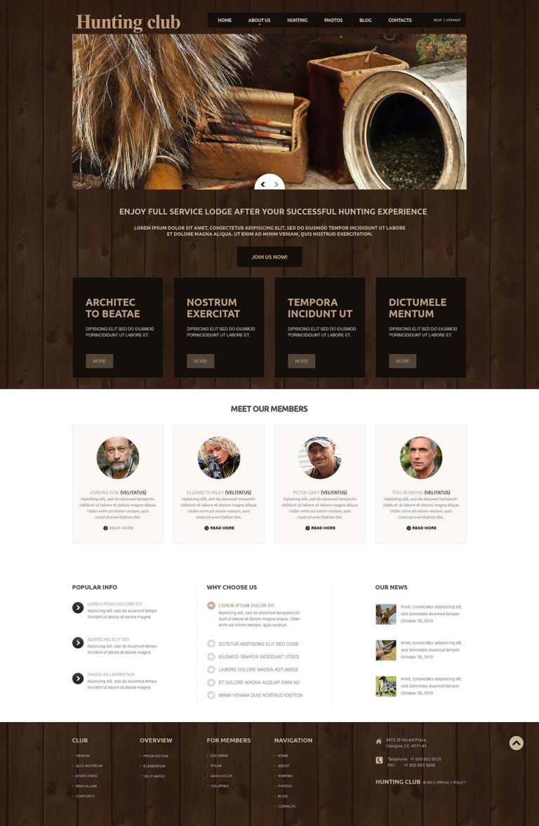 Hunting Responsive Joomla Template New Screenshots BIG