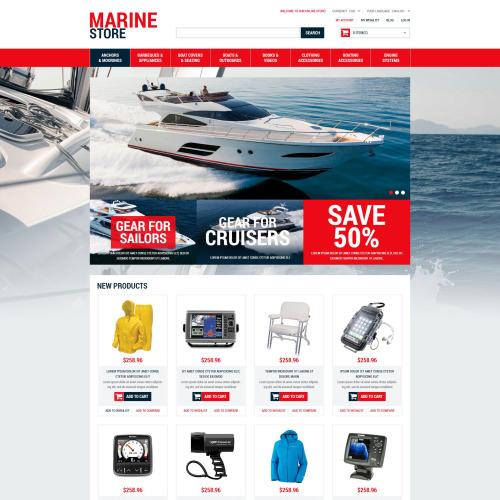 Marine Store - Responsive Magento Template