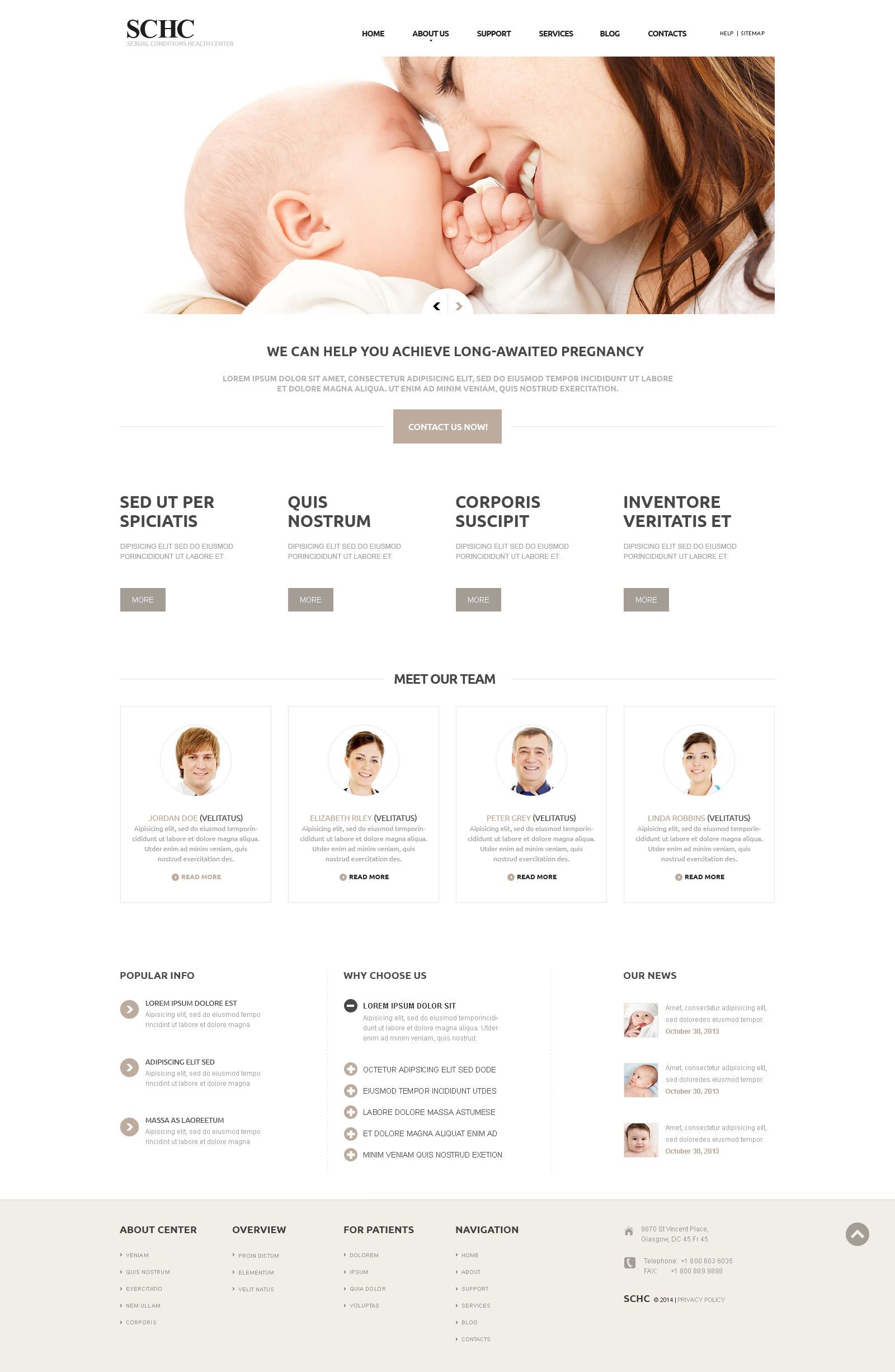 Medical Responsive Joomla Template - screenshot