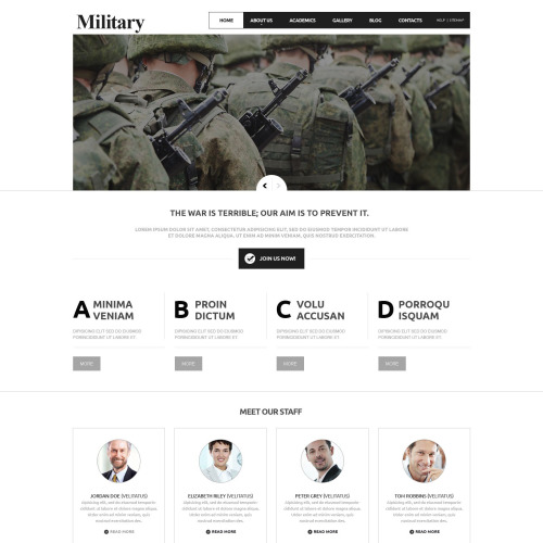 Military - Joomla! Template based on Bootstrap