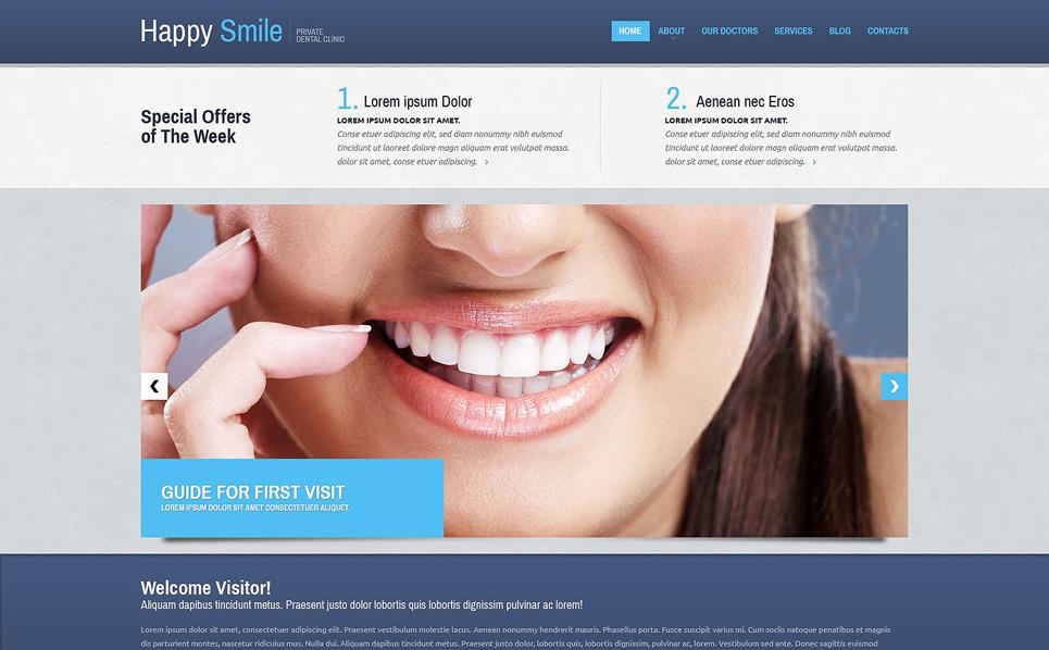 Modèle Web adaptatif  pour site de dentisterie New Screenshots BIG