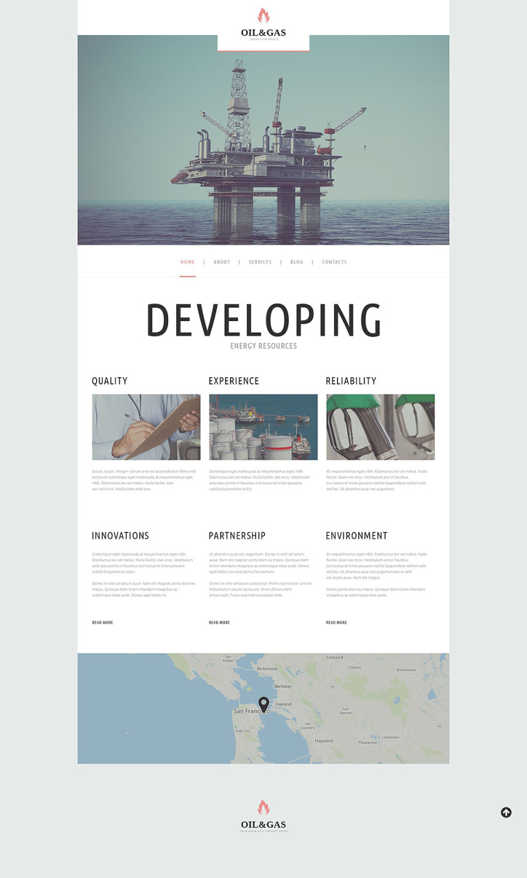 Oil Gas Company WordPress Theme New Screenshots BIG