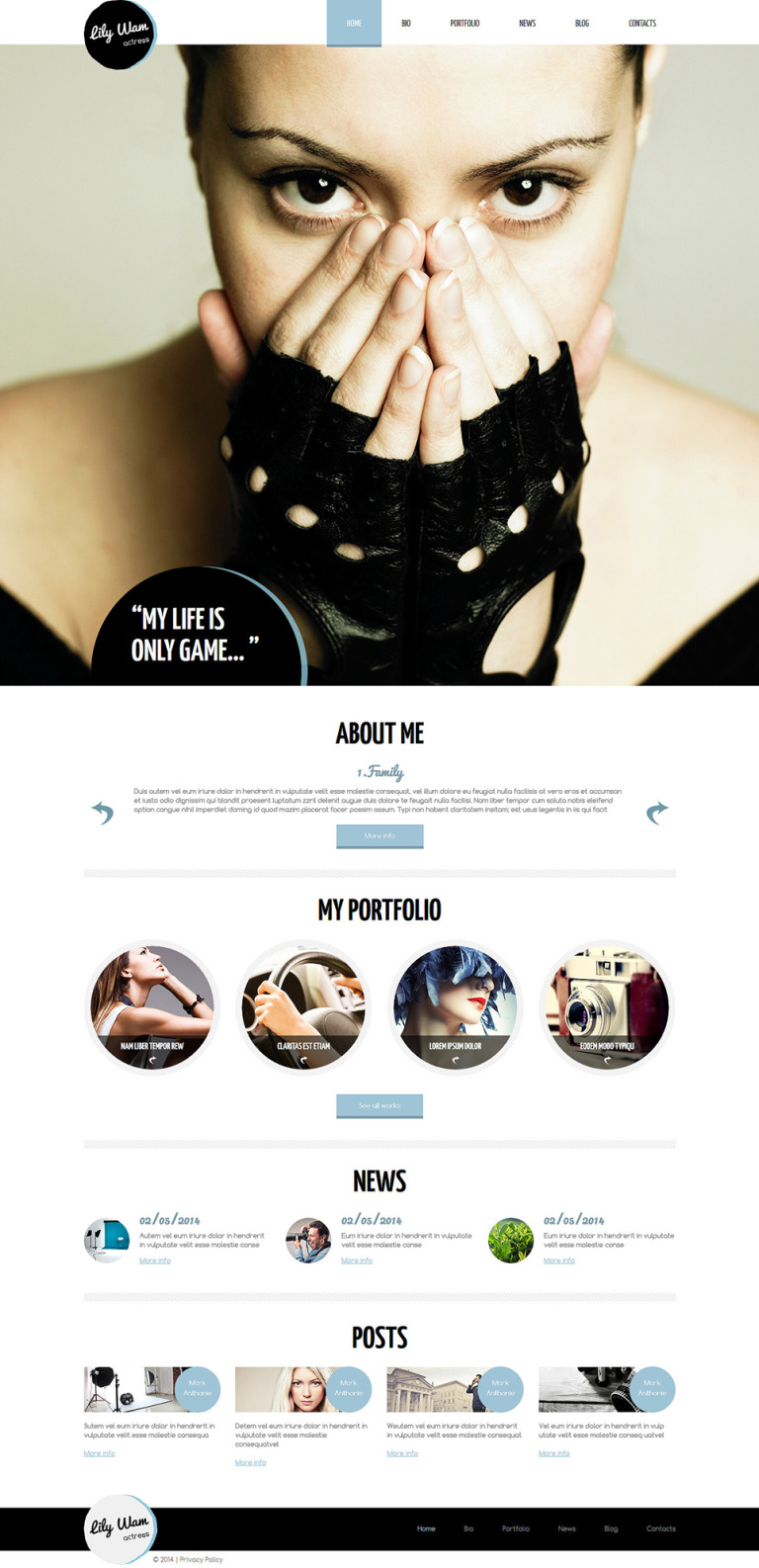 Personal Page Responsive Joomla Template New Screenshots BIG