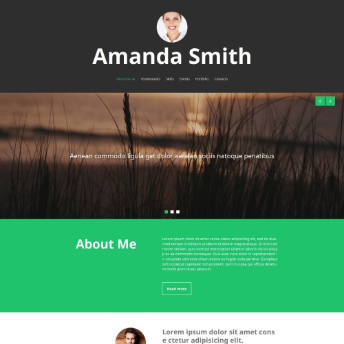 Amanda Smith - MotoCMS 3 Template based on Bootstrap