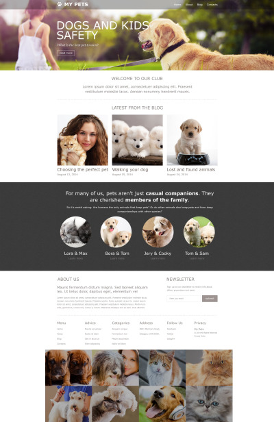 Pet Shop Muse Template #52338