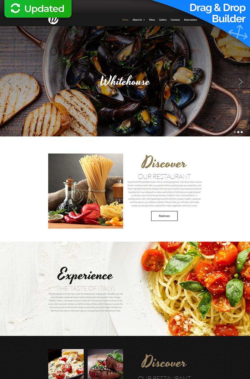 Plantilla Moto CMS 3 Responsive para Sitio de Restaurantes europeos #52352