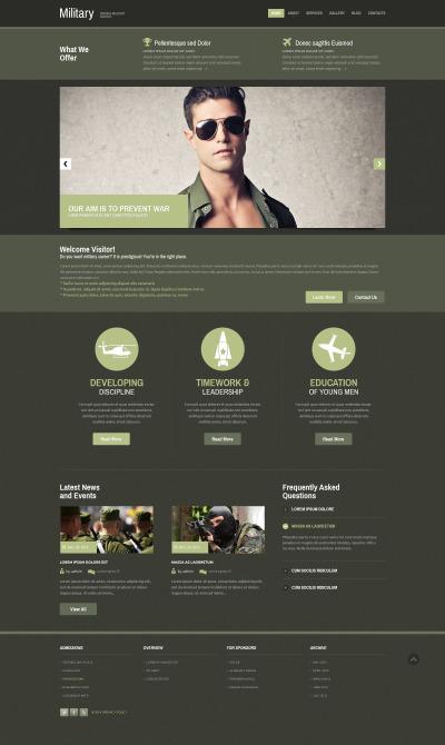 Responsive Plantilla Web #52392 para Sitio de  para Sitio militares