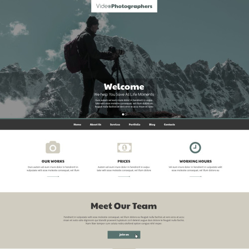 Video Photographers - Responsive Drupal Template