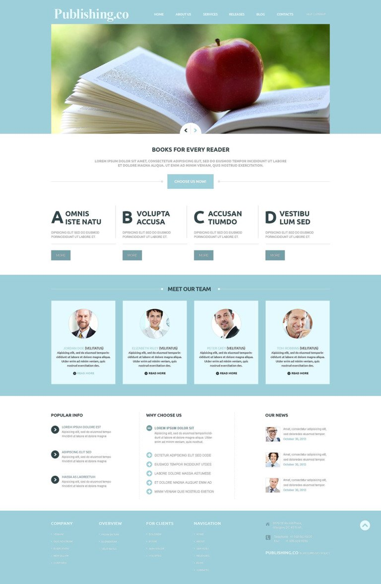 Publishing Company Responsive Joomla Template New Screenshots BIG