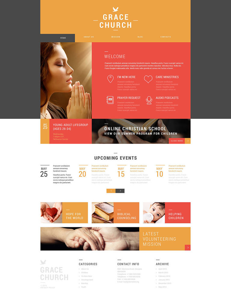 Religious Organization WordPress Theme New Screenshots BIG