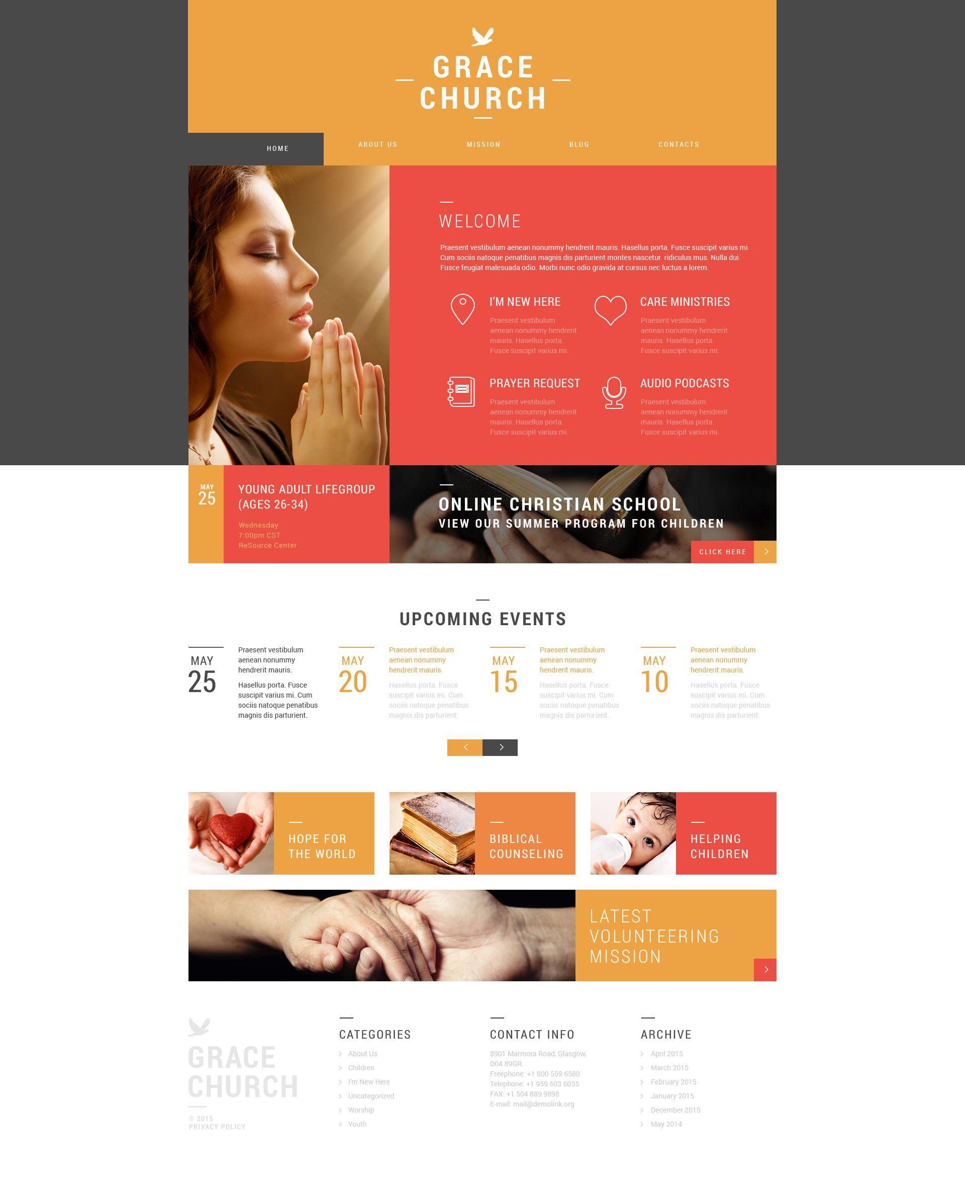 Religious Organization WordPress Theme - screenshot