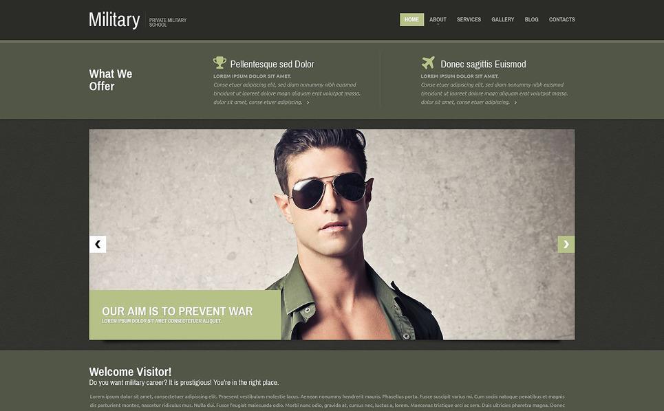 Responsive Askeri  Web Sitesi Şablonu New Screenshots BIG