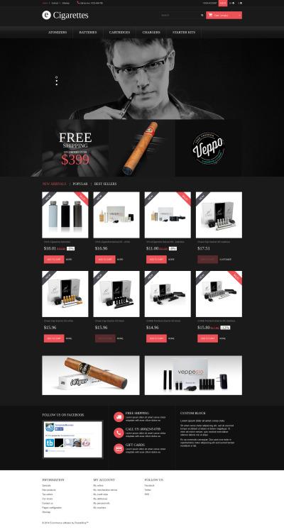 Responsywny szablon PrestaShop #52326 na temat: tytoń