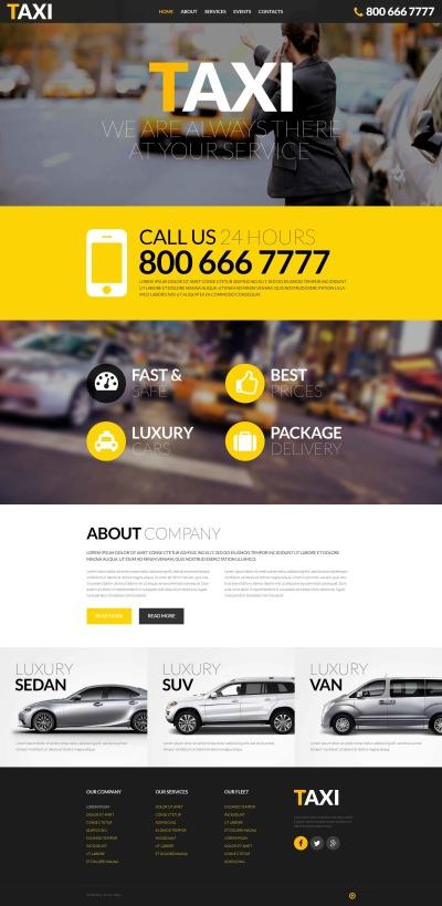 Responsywny szablon strony www #52390 na temat: taxi