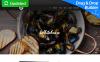 Reszponzív Európai étterem  Moto CMS 3 sablon New Screenshots BIG