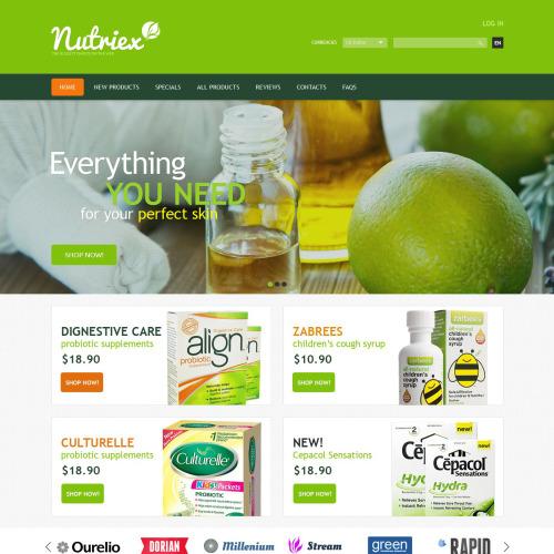 Nutriex - HTML5 ZenCart Template