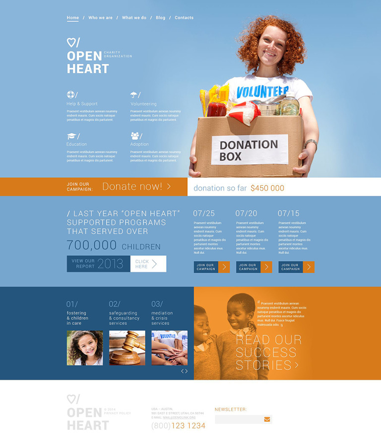 Solution for Charity Sites Joomla Template New Screenshots BIG