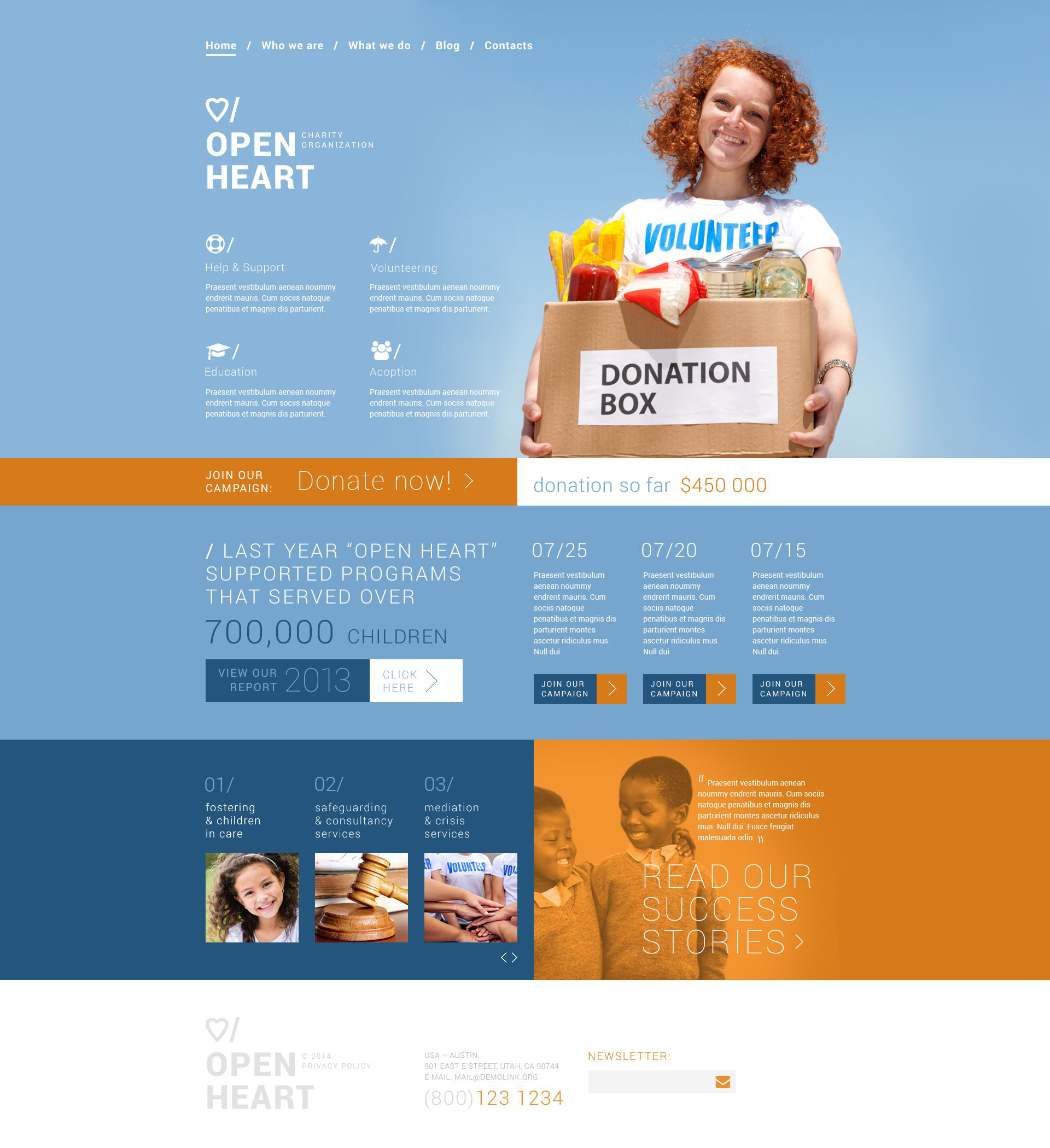 Solution for Charity Sites Joomla Template - screenshot