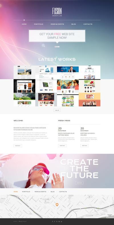 Responsive Tema De WordPress #52372 para Sitio de  para Sitio de Estudios de diseño