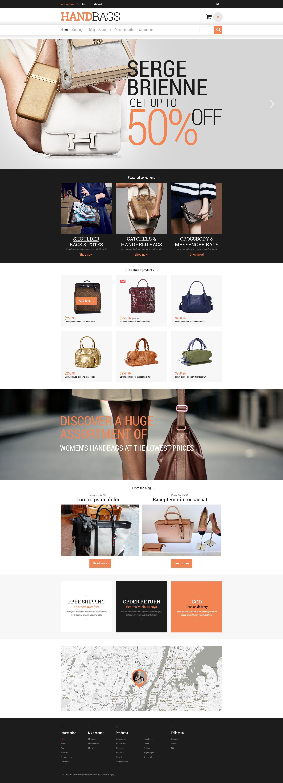 "Tema Shopify Responsive #52332 ""Branded Handbags"" - screenshot"