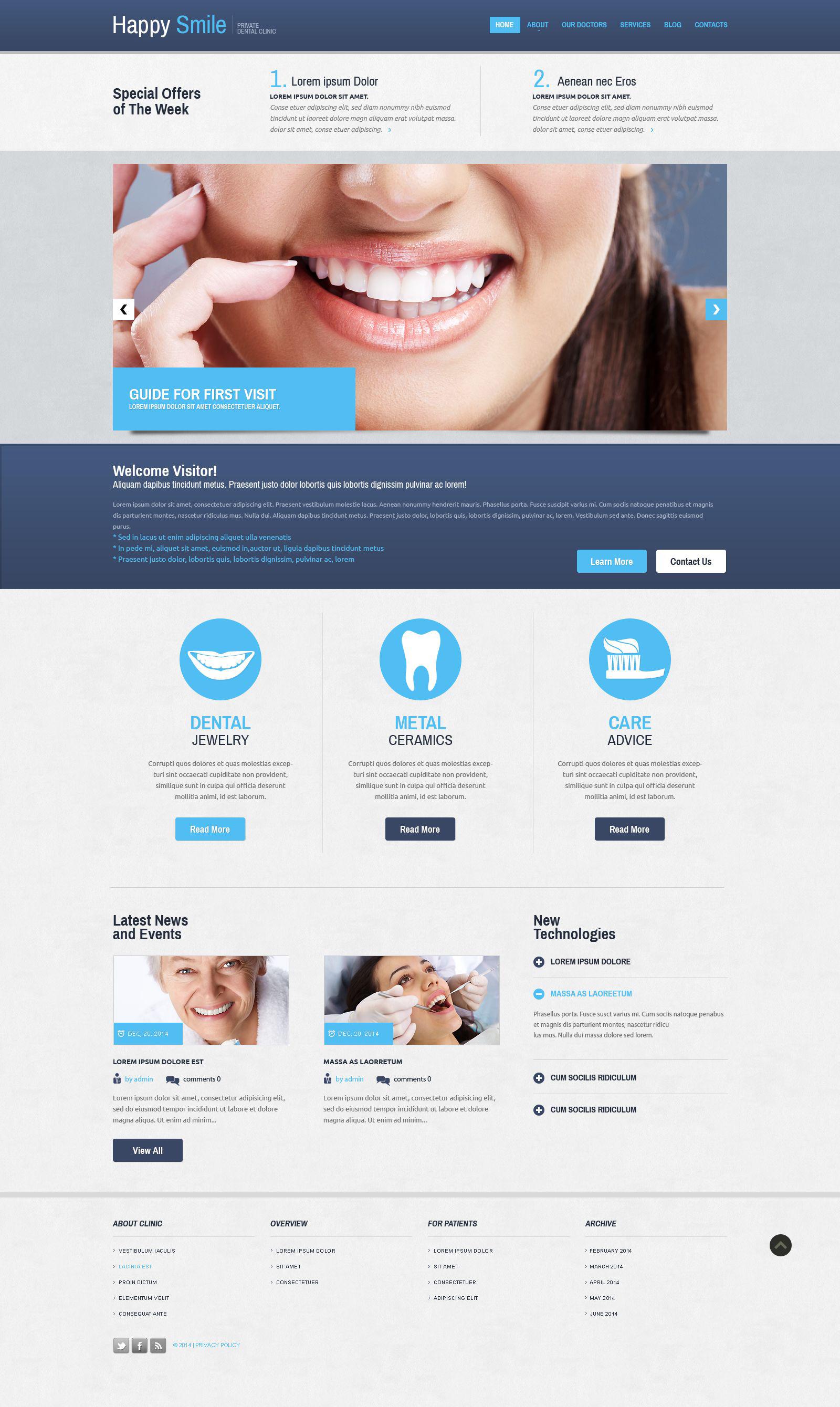 Template Web Flexível para Sites de Odontologia №52394 - captura de tela