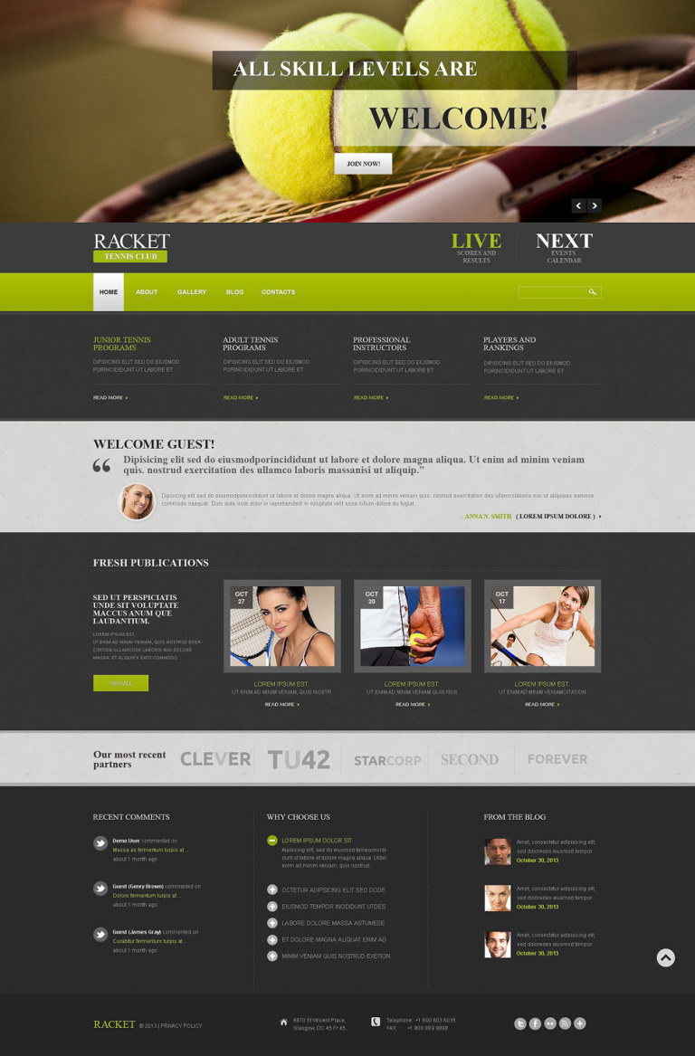 Tennis Responsive Joomla Template New Screenshots BIG