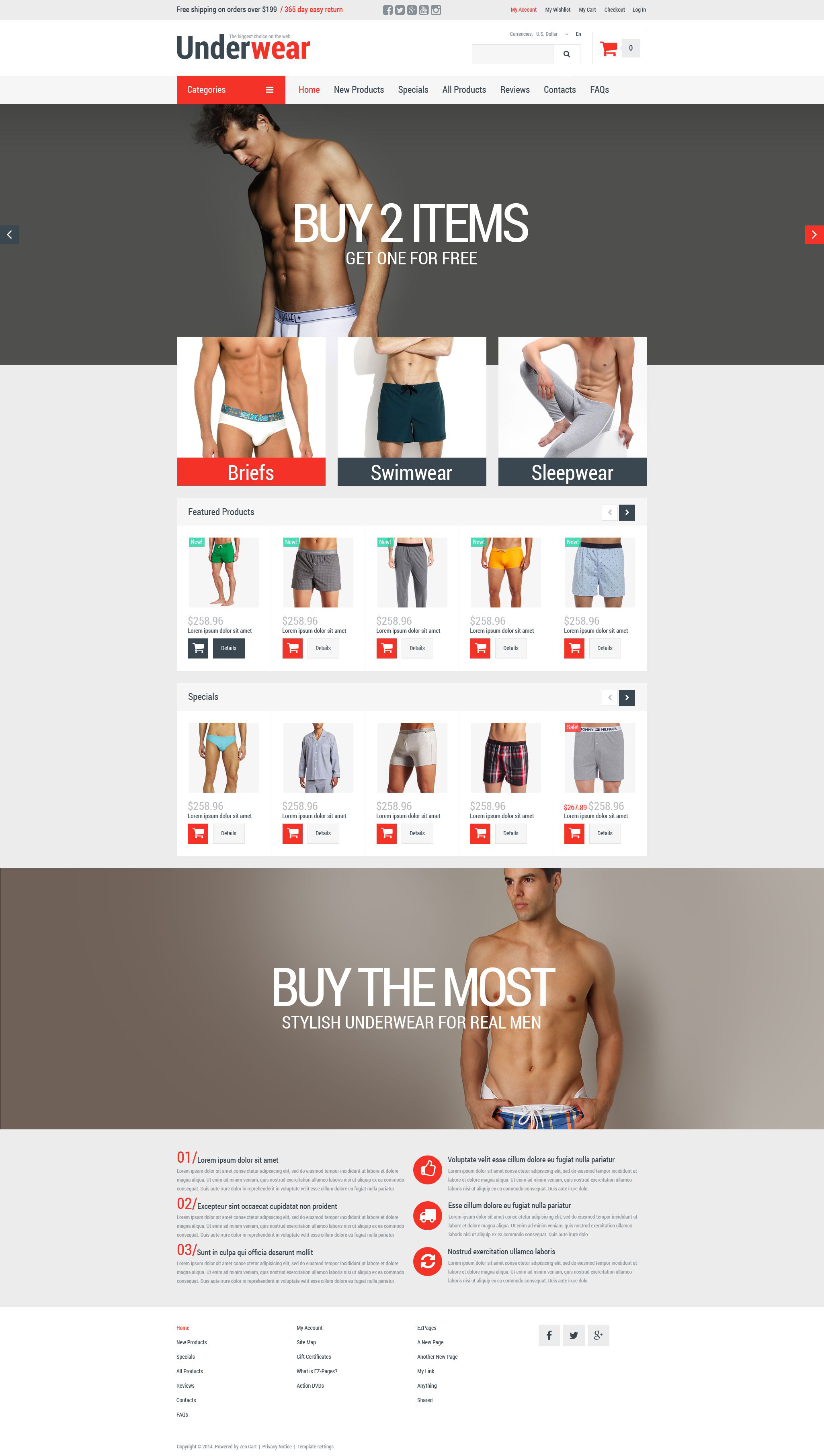 Thème Zen Cart pour boutique de sous-vêtements pour hommes #52368
