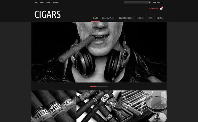 Tobacco Cigars Store PrestaShop Theme