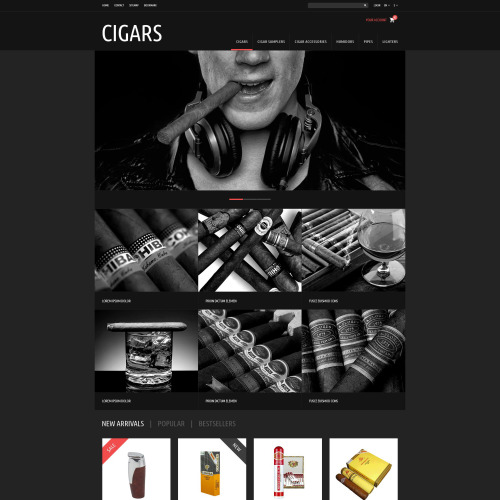 Cigars - PrestaShop Template based on Bootstrap