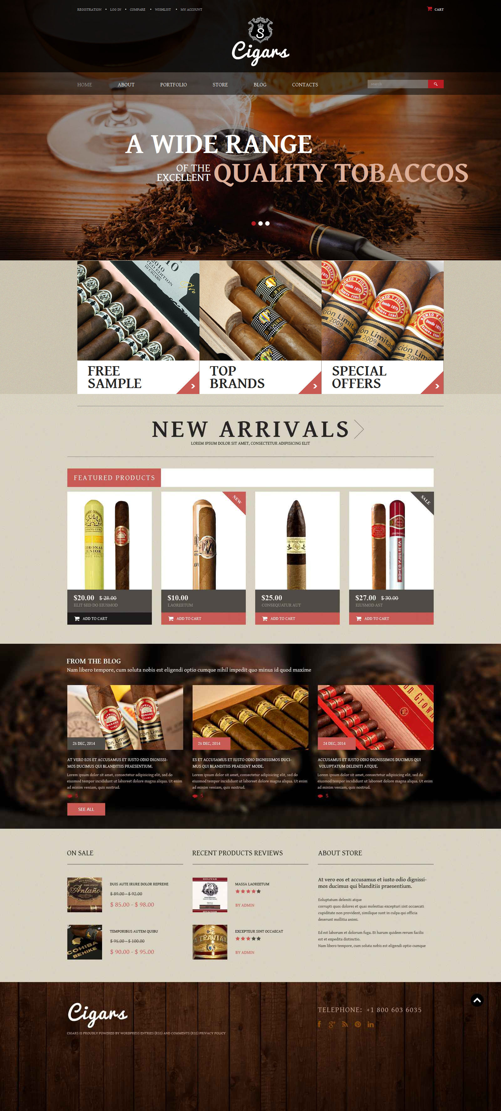 """Tobacco Shop"" Responsive WooCommerce Thema №52363"