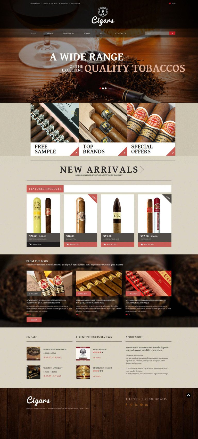 Tobacco Shop WooCommerce Theme New Screenshots BIG