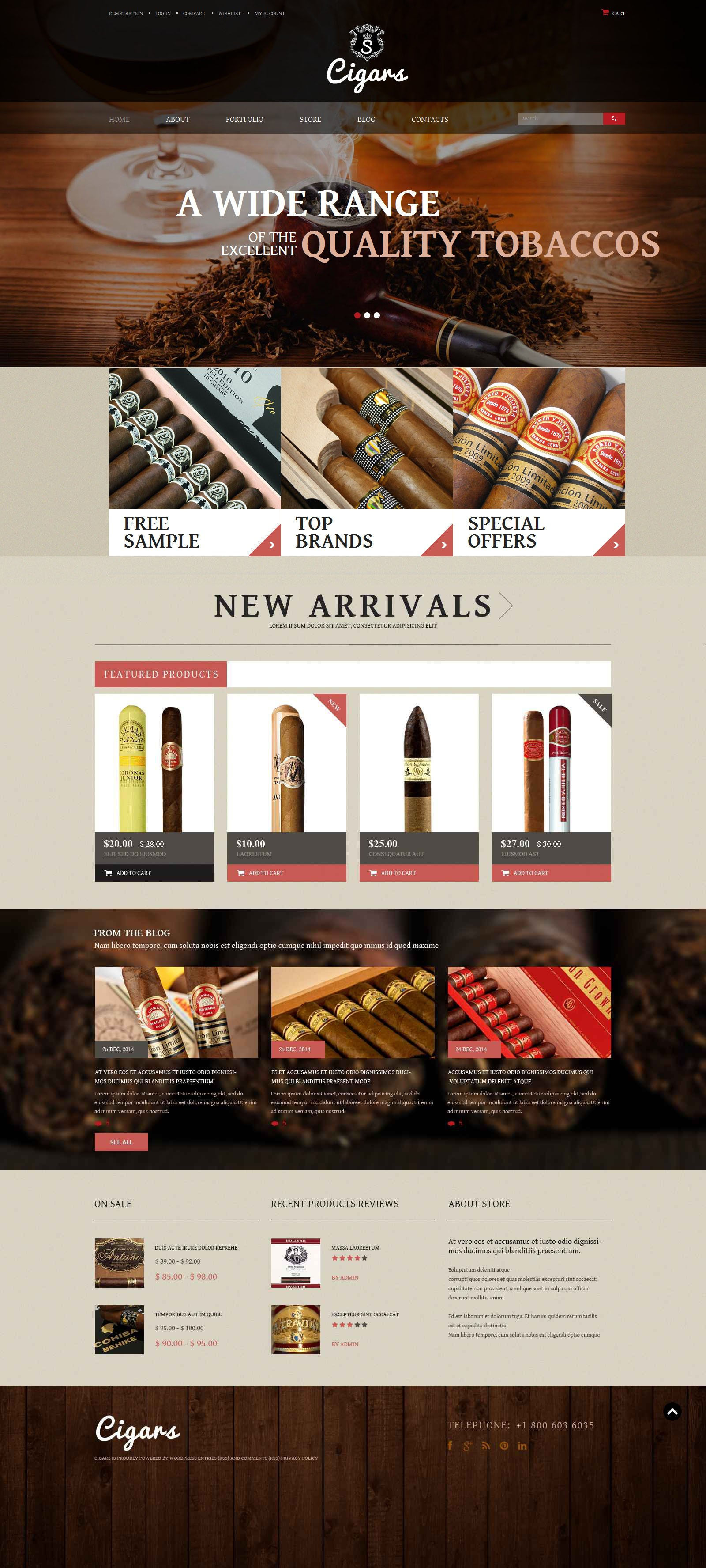Tobacco Shop WooCommerce Theme