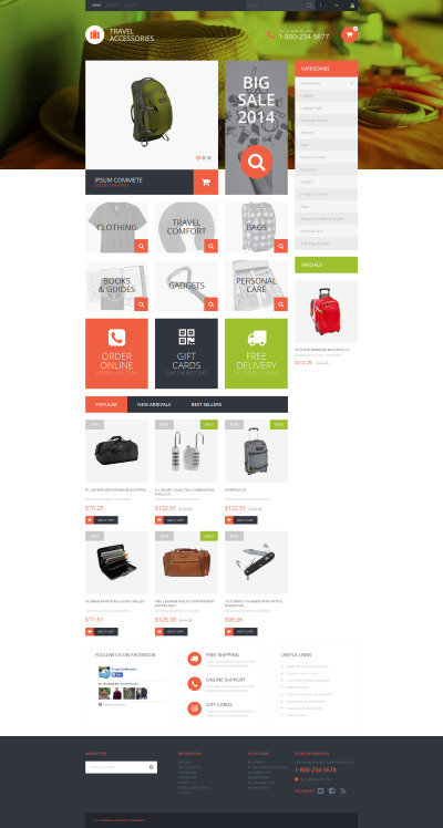 Travel Essentials PrestaShop Theme