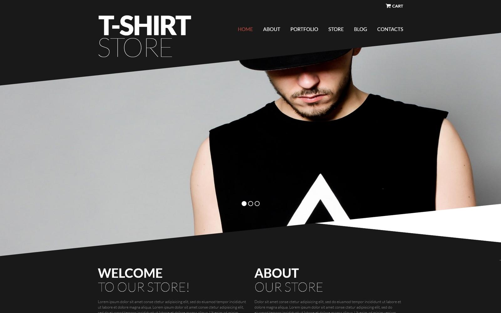 """Trendy TShirts"" Responsive WooCommerce Thema №52383"